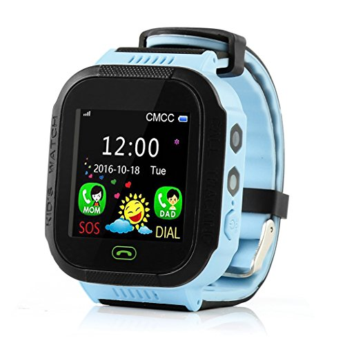 XWDA Kids Smart Watch Phone Bluetooth GSM Locator LBS SOS Call Children Phone Flashlight (F, Picture Color A) -