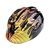 UHMei 5-12 Years Old Children Safety Helmets Riding/Skating/Single Board Skiing/Scooter/Balancing Bicycle Protective Helmet (Black Flame)