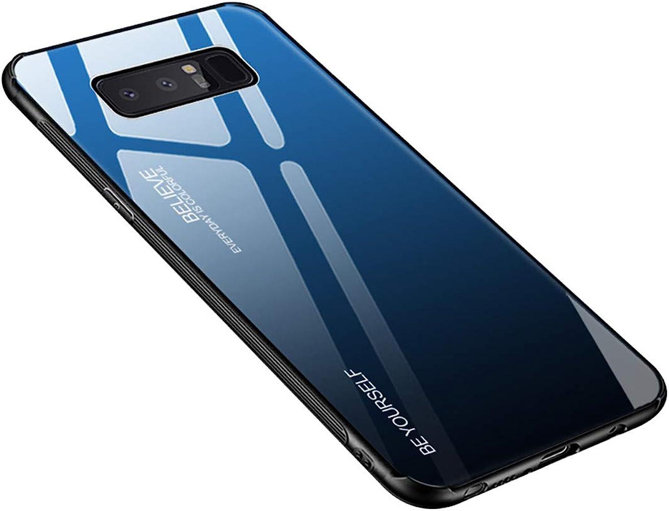 Funda Samsung Galaxy Note 8, Borde de Silicona TPU Suave Vidrio ...
