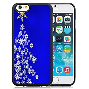 Fashion Custom Designed Cover Case For iPhone 6 4.7 Inch TPU Christmas Tree Black Phone Case