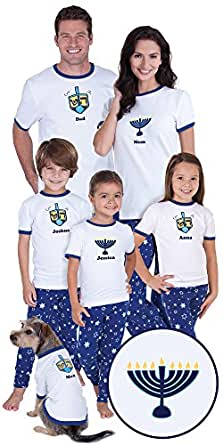 Chanukah Matching Pajamas for the Whole Family, Youth 8