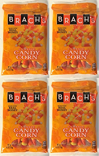 - Brach's Classic Candy Corn Made With Real Honey 4.2 Ounce Bag (Pack of 4 - Total of 16.8 Ounces)