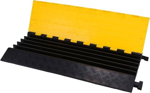 orangea 5 canal de goma Protector de cable 18000lbs capacidad velocidad Bump de goma velocidad Bump Cable Pantalla rampa (negro y amarillo): Amazon.es: Electrónica