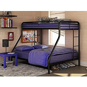 Amazoncom Dorel TwinOverFull Metal Bunk Bed Multiple Colors