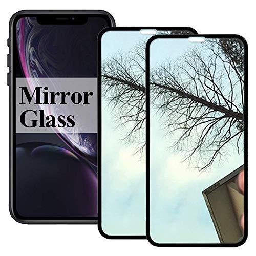 2 Pack【Mirror Effect】 Xphone X/XS Screen Protector Tempered Glass Compatible with iPhone 10xs 10 10s Sx Xphonex 3D Full Curved Protective Film