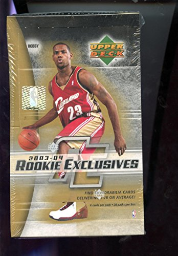 2003-04 Upper Deck Rookie Exclusives Set NBA Basketball 03-04 Wax Pack Box 2004 Lebron James Possible (Deck Basketball Upper 03)