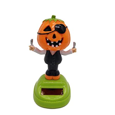Solar Dancing Toy Plastic Solar-Powered Swinging Halloween Pumpkin Doll Solar Toys Animal Dancing Car Decor for Kids Toys Gift: Toys & Games