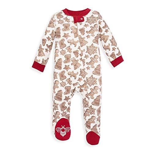 Burt's Bees Baby Unisex Baby Sleep & Play, Organic Pajamas, NB-9M One-Piece Zip Up Footed PJ Jumpsuit, Gingerbread, 6-9 Months (Bee Jumpsuit)