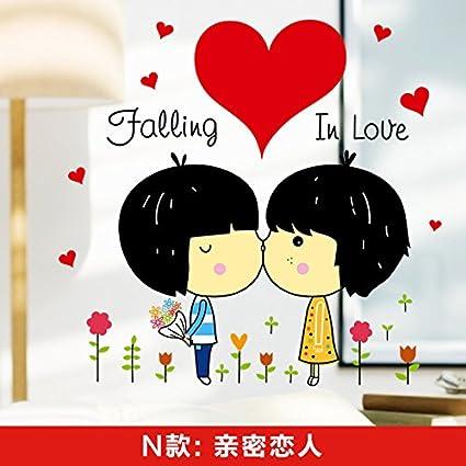Amazon Com Zrdmn Wall Sticker Cartoon Wall Sticker Love Couples