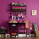 Metal Burnet Wall Mount Craft Storage Rack, Espresso