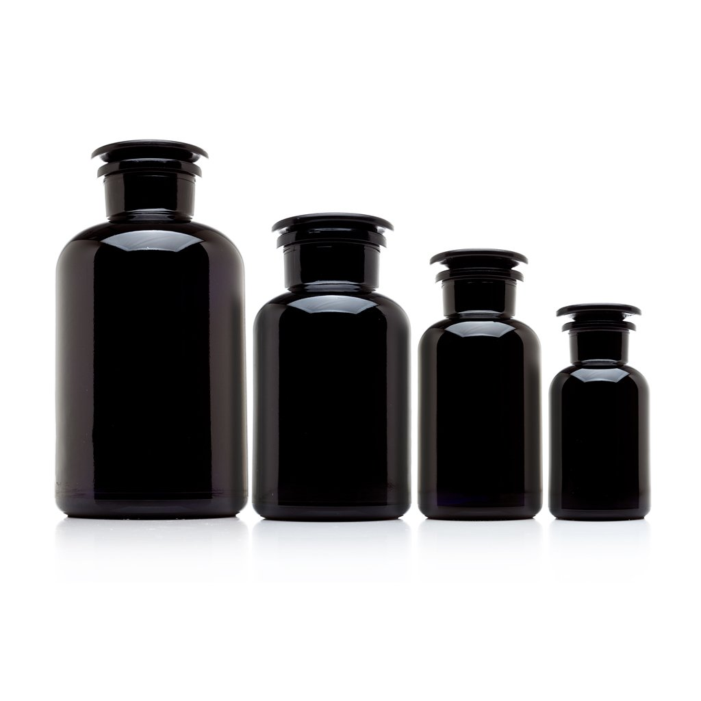 Infinity Jars All Glass Apothecary Collection Gift Pack. Comes with 4 Jars, 2 Liter to 250 ml Capacity.