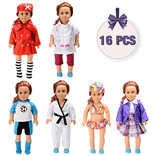Sakiyr American Girl Doll Clothes Accessories Set -