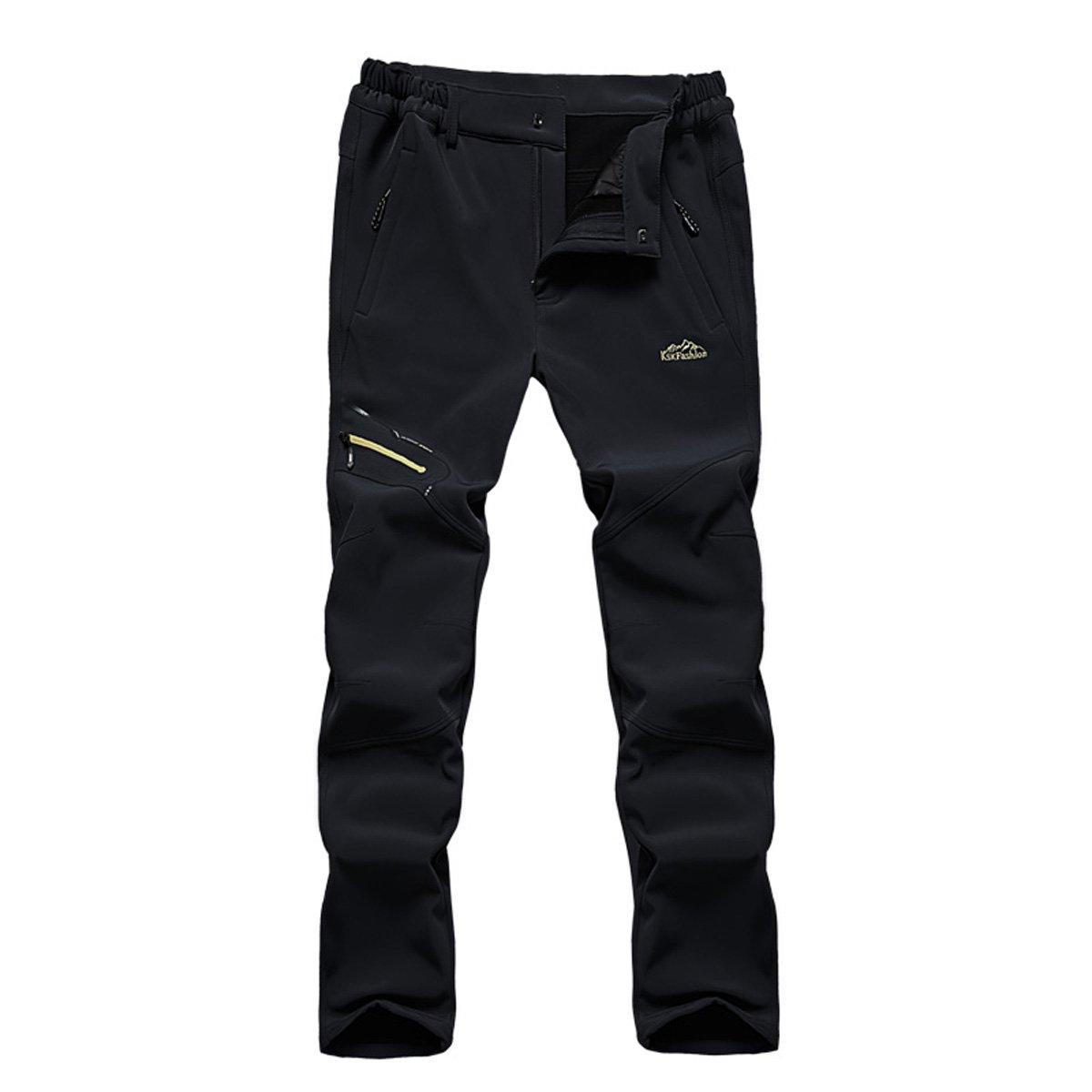 BUAAM Men's/Women's Winter Outdoor Softshell Fleece Layer Windbreaker Pants 15YT026