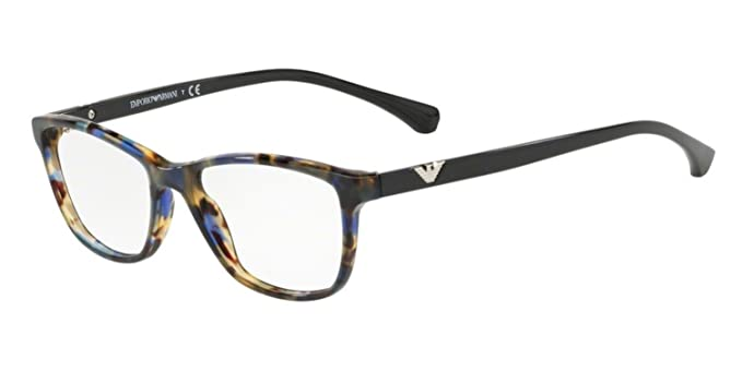 9e62992a708 Image Unavailable. Image not available for. Color  Eyeglasses Emporio Armani  EA 3099 5542 HAVANA SPOT BLUE