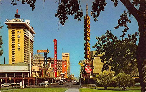 Las Vegas Nevada Casino Center Fremont Street Vintage Postcard JC627924