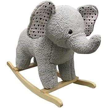 58faebda6f17 Amazon.com  Happy Trails Elephant Plush Rocking Animal  Toys   Games