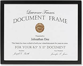 lawrence frames black wood certificate picture frame gallery collection 8 1