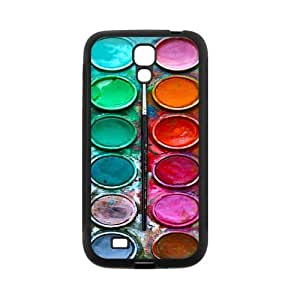 Watercolor Palette Protective Rubber Back Fits Cover Case for SamSung Galaxy S4 wangjiang maoyi