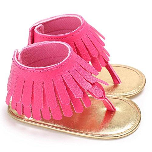 afe2cd40ec5 Zolimx      Bebé Niña Cuna Zapatos Recién Nacidos Flor Suave Suela  Antideslizante Zapatillas