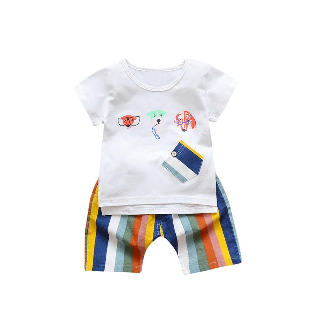 dd4d15cf8 Amazon.com  Toddler Boy Outfit Graphic Cartoon Dog Printed T-Shirt ...