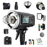 Godox AD600B TTL 600Ws GN87 HSS Outdoor studio Flash Strobe Monolight Speedlite Light+X1T-N Trigger Transmitterfor Nikon cameras /32''X32''Softbox/ Standard Reflector&Grid/Barn Door/Snoot(Bowens Mount)