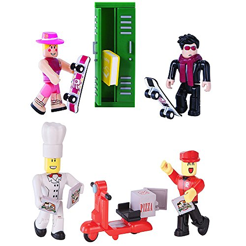 Roblox High School & Work at a Pizza Place Action Figure Bundle (Roblox Work At A Pizza Place Codes)