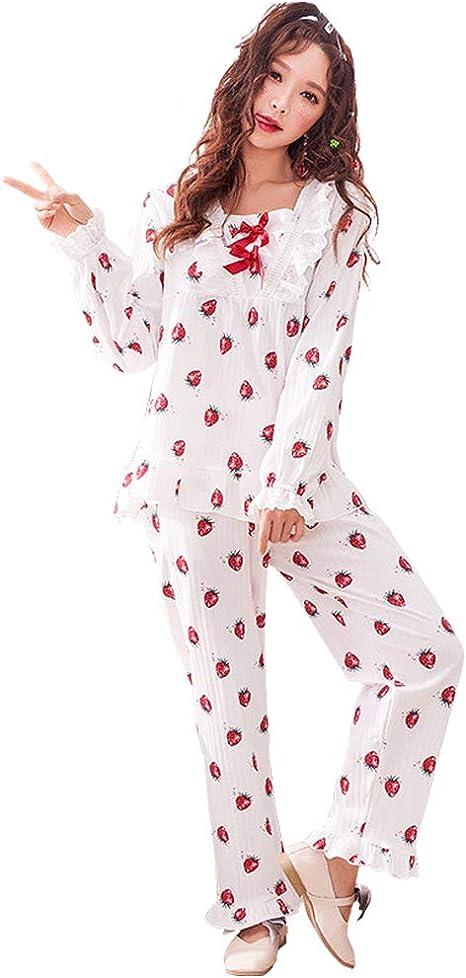 Camisones Pijamas Pijamas de algodón Suave para Mujer Ropa de ...