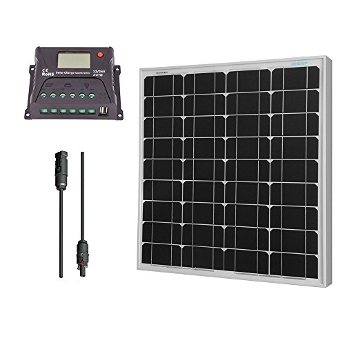 Renogy 50 Watt 12 Volt Monocrystalline Solar Bundle Kit by Renogy