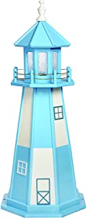 product image for DutchCrafters Decorative Lighthouse - Wood, Cape Henry Style (Powder Blue/White, 4)