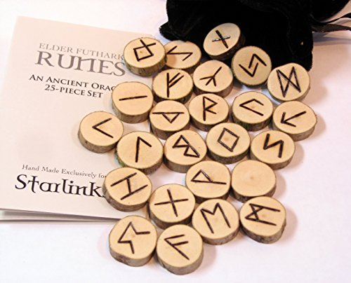 Alphabet Booklet (Elder Futhark Wood Runes Set with Velvet Pouch and Instruction Booklet)