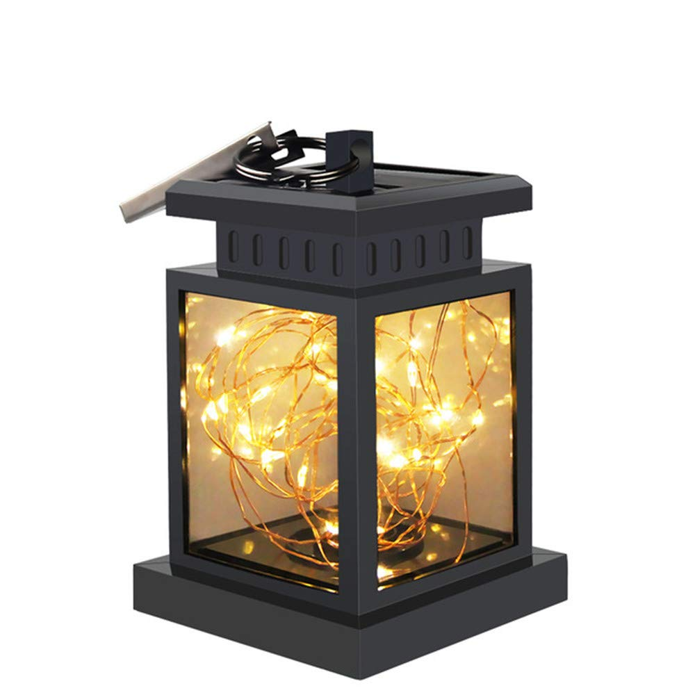 Solar Glass Jar Lights, TechCode Waterproof LED Solar Outdoor Fairy Lights Flashing Star Hanging Lantern Smokeless for Garden,Courtyard,Wedding,Party,Bar,Cafe,Christmas,Patio Deck Yard Pathway or More