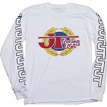 JT Racing USA Victory Long Sleeve T-Shirt (White, Large)