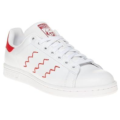 bas prix d9d15 a19bb adidas Zig-Zag Stan Smith Femme Baskets Mode Blanc: Amazon ...