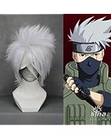 """14"""" Layered Silver White Cosplay Wig -- Hatake Kakashi NARUTO Spiky"""