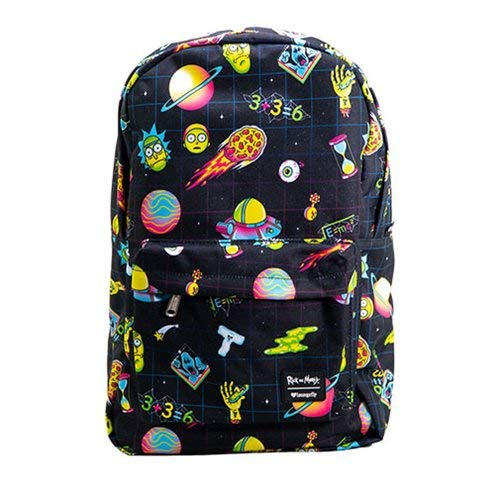 Loungefly Rick & Morty Galaxy Character All Over Print Backpack