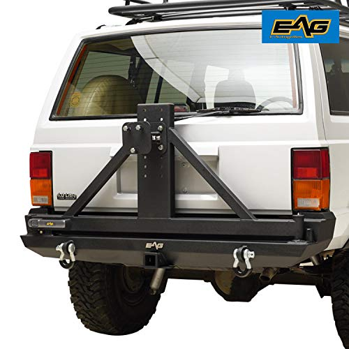 Bumper Tire Carrier - EAG Rear Bumper with Tire Carrier & 2