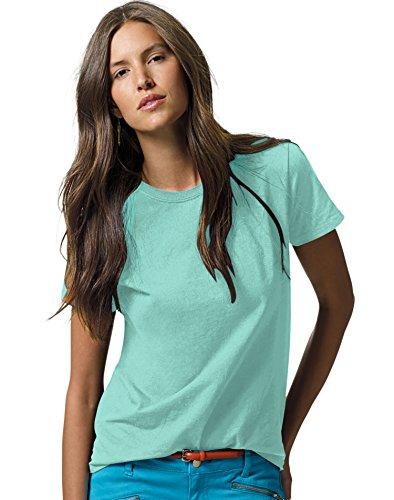 (Hanes Women's Relaxed Fit Jersey ComfortSoft Crewneck T-Shirt_Clean Mint_3X)