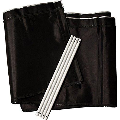 Gorilla Grow Tent GGT24EX Extension Kits Tent, 2x4 Regular 2' ext, Black by Gorilla Grow Tent