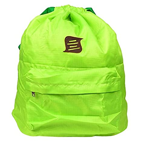 543af2c85f7 Image Unavailable. Image not available for. Colour: Stylehoops Neon Green  Compact Foldable Polyester Drawstring Backpack ...
