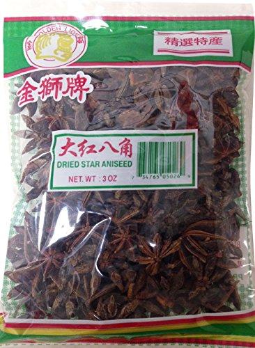 大紅八角 Golden Lion Dried Whole Chinese Star Anise Pods 3 oz (pack of 5) ()