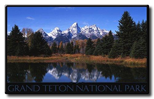 Teton Pond Grand Teton National Park Aluminum HD Metal Wall Art by Artist Ike Leahy ( 18