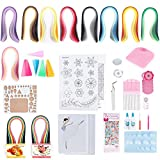 Akozon Paper Quilling DIY Kits, Quilling Strips Beginner DIY Crafts Tool Set Design Drawing Tool Handcraft