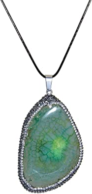 Unique Pendants Druzy Geode Unique Gifts Unisex Jewelry Quartz Necklace Crystal Jewelry Druzy Geode Agate  Necklace Quartz Pendant