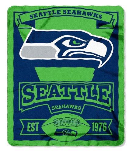 "50"" x 60"" Marque Fleece Throw Blanket Blanket: NFL Seattle Seahawks"