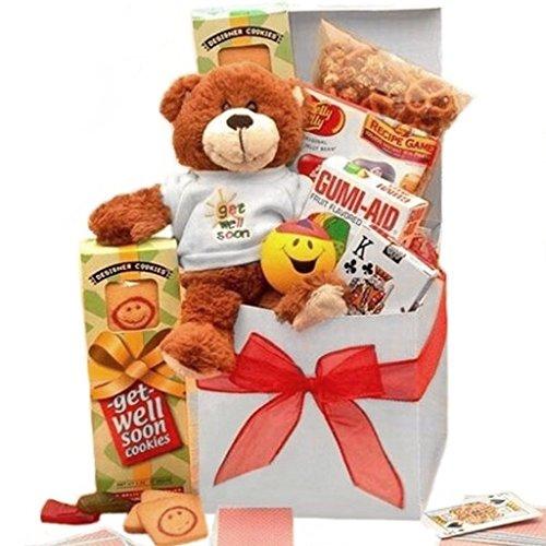 Get Well Soon Gourmet Gift Box with Teddy Bear