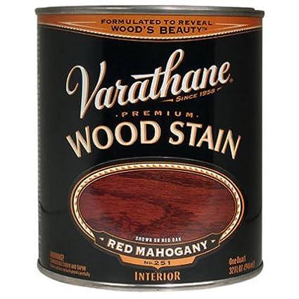 Varathane 211724H Premium Wood Stain Quart Red Mahogany