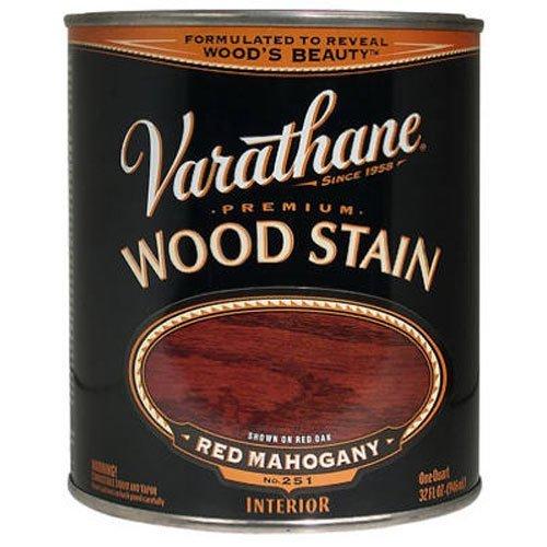 Wood Mahogany Stain Red - Varathane 211724H Premium Wood Stain, Quart, Red Mahogany
