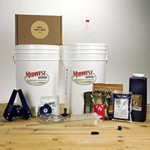 Midwest Supplies Beer. Simply Beer. - Homebrewing Beer Brewing Starter Kit - 5 Gallons Beer Making Pale Ale Recipe Kit with 6.5 Gallon Fermenting Bucket Equipment from Midwest Supplies