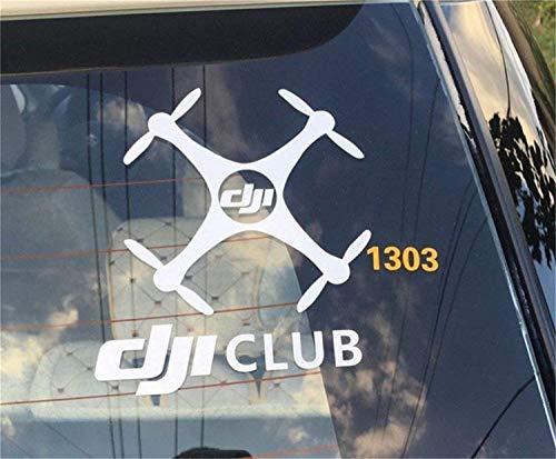- Car Decal Window Cling Waterproof Sticker for DJI Club Logo Phantom Mavic Drone Fans by Gidy (6.9)