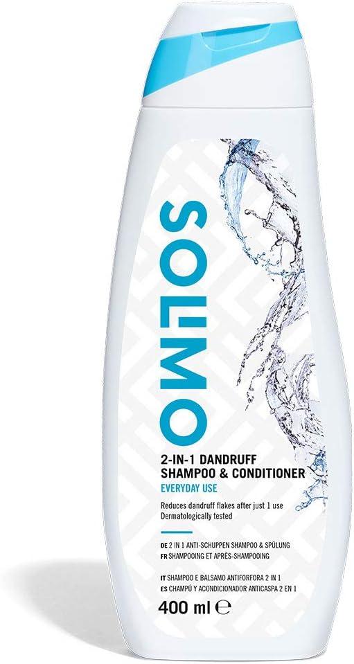 25 opinioni per Marchio Amazon- Solimo Shampoo e balsamo antiforfora 2 in 1 per uso quotidiano-
